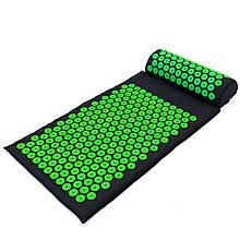 Килимок + подушка (валик) аплікатор Кузнєцова Масажний масажер для спини/ніг OSPORT (apl-011)