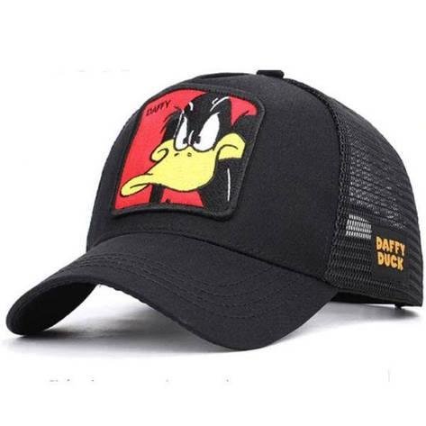 Кепка Бейсболка Тракер с сеткой Goorin Brothers Cartoons Мультик Daffy Duck с Уткой Черная, фото 2