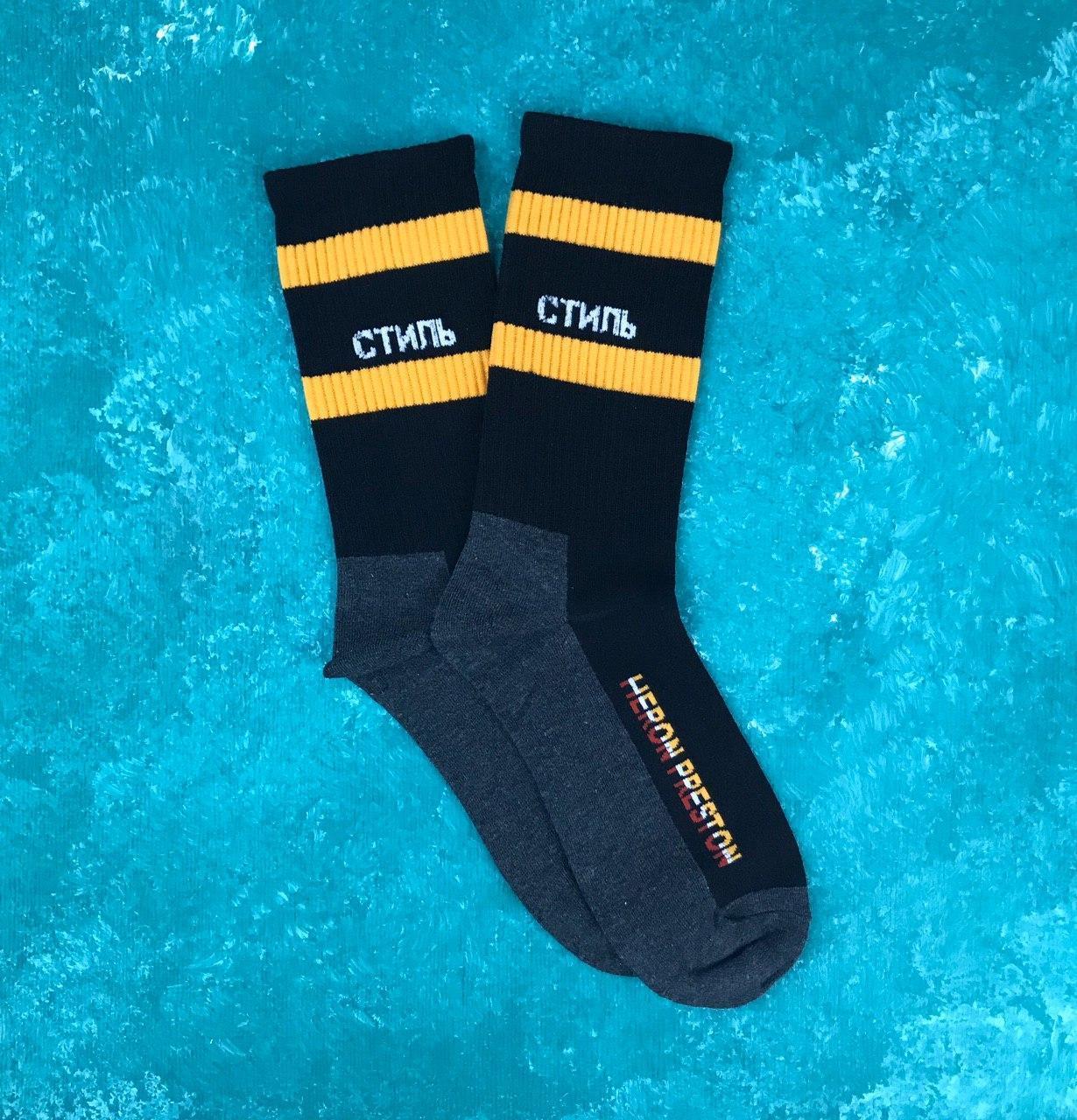 Шкарпетки Високі Жіночі Чоловічі City-A Гоша Рубчинський Стиль Heron Preston Чорні 37-42
