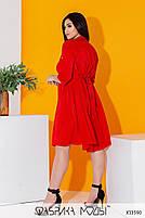 Літній шовкова сукня-сорочка з рукавами три чверті і коміром стійка з 50 по 56 розмір, фото 5