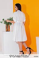 Літній шовкова сукня-сорочка з рукавами три чверті і коміром стійка з 50 по 56 розмір, фото 3