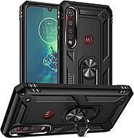 Чехол Shield для Motorola One Macro / XT2016-1 противоударный Бампер с подставкой Black
