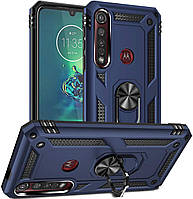 Чехол Shield для Motorola One Macro / XT2016-1 противоударный Бампер с подставкой Dark-Blue