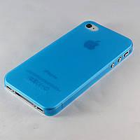 Чехол-накладка для Apple iPhone 4/4S, HOCO, ультратонкий матовый,Голубой /case/кейс /айфон