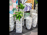 Садовий горщик імітація кам'яної структури 76 x 35 см 2028/3, фото 3