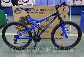 Двопідвісний велосипед Azimut Scorpion 27.5 G-FR/D (19) чорно-синій