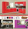 Кухня глянцевая серии HIGH GLOSS модульная под заказ