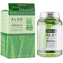 Ампульних сироватка для обличчя з екстрактом алое Farmstay Aloe All In One Ampoule 250 мл (8809469772877)