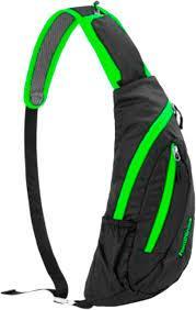Рюкзак-сумка Naturehike Chest Bag 6 л NH23X008-K black&green (NH)
