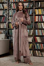 Халат жіночий домашній велюровий Мірелла