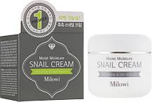 Зволожуючий крем для обличчя з муцином равлики Milowi Chok Chok Snail Водянисті Cream 60 мл (8809518823178)