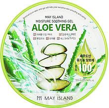 Увлажняющий гель с алоэ May Island Aloe Vera 100% Moisture Soothing Gel 300 мл
