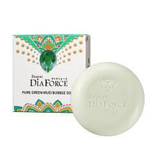 Мыло для лица с зелёной глиной Rearar Dia Force Pure Green Mud Bubble Soap (8809501400331)