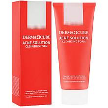 Очищающая пенка для умывания от акне FarmStay Derma Cube Acne Solution Cleansing Foam 180 мл