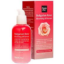 Сироватка для обличчя з болгарською трояндою FarmStay Bulgarian Rose Blooming Oil Serum 100 мл