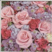 Салфетки для декупажа Розовые розы и сирень