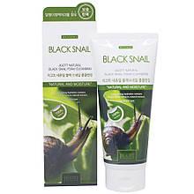 Пенка для умывания с муцином улитки Jigott Natural Black Snail Foam Cleansing 180 мл