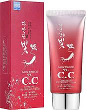 СС крем для лица с экстрактом красного женьшеня Daandan Bit Red Ginseng CC Cream 50 мл
