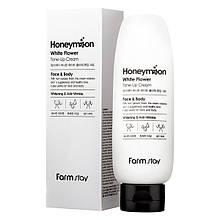 Осветляющий крем для лица Farmstay Honeymoon White Flower Tone-Up Cream 150 мл