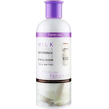 Емульсія для обличчя з молочним екстрактом Farmstay Milk Visible Difference White Emulsion 350 мл (8809514480184)