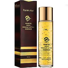 Омолоджуюча есенція для обличчя з екстрактом золота і меду Farmstay Honey & Gold Wrinkle Lifting Essence 130мл