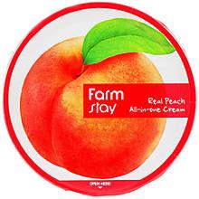 Питательный крем для лица и тела с экстрактом персика Farmstay Real Peach All-In-One Cream 300 мл