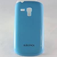 Чехол-накладка для Samsung Galaxy S3 mini, i8190, пластиковый, Buble Pack, Голубой /case/кейс /самсунг галакси
