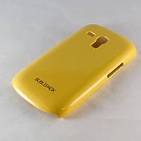 Чехол-накладка для Samsung Galaxy S3 mini, i8190, пластиковый, Buble Pack, Желтый /case/кейс /самсунг галакси