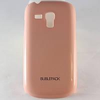 Чехол-накладка для Samsung Galaxy S3 mini, i8190, пластиковый, Buble Pack, Розовый /case/кейс /самсунг галакси