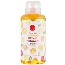 Міцелярна очищаюча вода з вітамінами Farmstay Pure Natural DR V-8 Vitamin Cleansing Water 500 мл