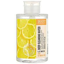 Очищающая вода с экстрактом лимона Jigott Deep Cleansing Water Lemon 530 мл
