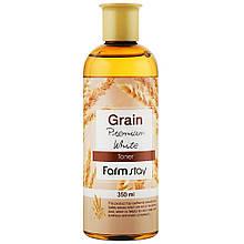 Тонер для лица с экстрактом ростков пшеницы FarmStay Grain Premium White Toner 350 мл