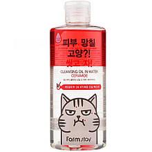 Двухфазное средство для снятия макияжа с кемидами FarmStay Cleansing Oil In Water Ceramide 300 мл