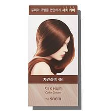 Крем-краска для волос The Saem Silk Hair Color Cream Gray Hair Cover Natural Brown 60г + 60г (8806164149904)