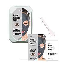Моделирующая маска для лица с черным жемчугом Konad Iloje Jewel Modeling Mask Pack Aurora Black Pearl 50г+5г