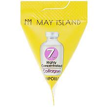 Ампульная сыворотка с коллагеном для упругости кожи May Island 7 Days Collagen Ampoule 1 шт (8809515400884)