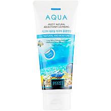 Увлажняющая пенка для умывания лица с экстрактом гамамелиса Jigott Natural Aqua Foam Cleansing 180 мл
