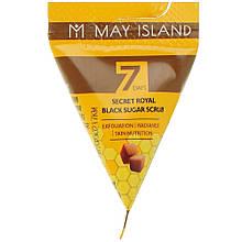Очищающий скраб для лица с сахаром May Island Seven Days Black Sugar Scrub 1 шт