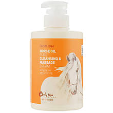 Очищающий массажный крем с лошадиным маслом Farmstay Pure Cleansing & Massage Cream Horse Oil 430 мл