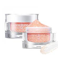 Освітлюючий крем для обличчя з перламутровою пудрою May Island Whitening Tone Up Pearl Cream 50 мл