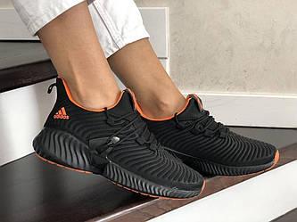 Кроссовки Ad1d@s AlphaBounce Instinct черные с оранжевым 36-41 р.