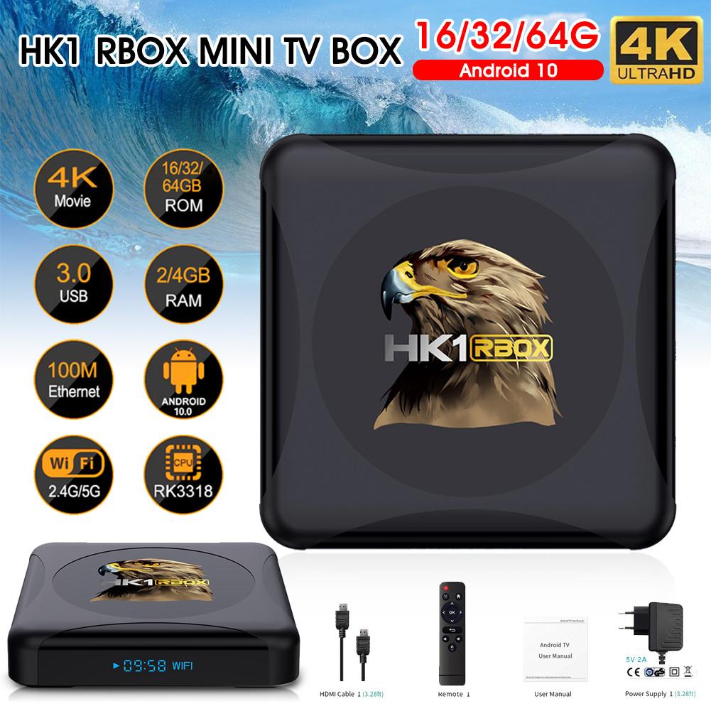 Смарт ТВ-приставка HK1 Rbox 4gb/32gb Ultra HD SmartTV Андроїд 10 Android TV box