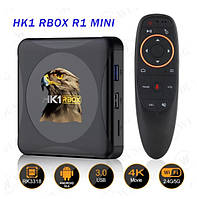 Смарт ТВ приставка HK1 Rbox 4gb/32gb Ultra HD SmartTV Андроид 10 Android TV box + пульт Air Mouse G20