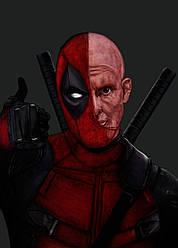 Картина GeekLand Deadpool Дэдпул Уейд Вілсон 40х60см DP.09.116