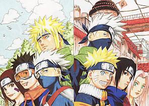 Картина GeekLand Naruto Наруто команда мінато і какаші 60x40 NU 09.053