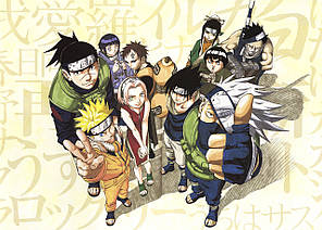Картина GeekLand Naruto Наруто команда кращих 60x40 NU 09.090