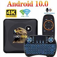 Смарт ТВ приставка HK1 Rbox 4gb/32gb Ultra HD SmartTV Андроид 10 Android TV box + клавиатура