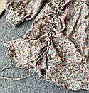 Шифонове плаття з запахом в квітковий принт і затяжкою на спідниці (р. 42-44) 68032367, фото 2