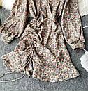 Шифонове плаття з запахом в квітковий принт і затяжкою на спідниці (р. 42-44) 68032367, фото 3