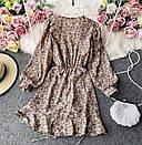 Шифонове плаття з запахом в квітковий принт і затяжкою на спідниці (р. 42-44) 68032367, фото 5
